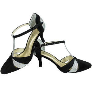 Ref 272 Vibranto Shoes in black and silver