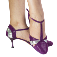 Ref 272 in purple 'folia' leather and uranus silver leather.