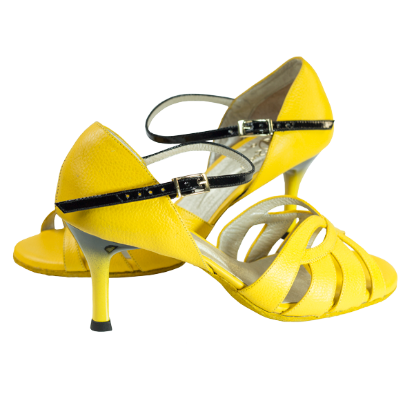 Ref T287D C1207 all in yellow leather