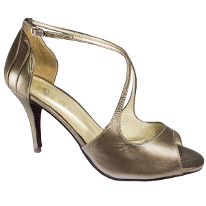 Ref 1203 Vibranto Shoes in bronze leather