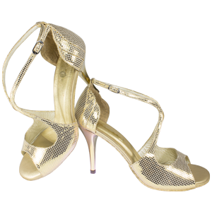 Ref 1203 Vibranto Shoes in golden folia