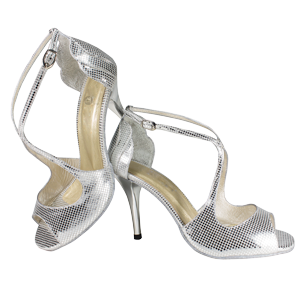 Ref 1203 Vibranto Shoes in silver folia