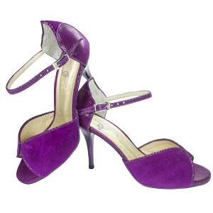 Ref 248 Vibranto Shoes in purple suede leather