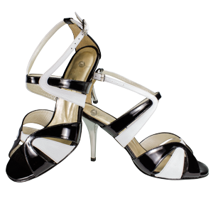 Ref 293 Vibranto Shoes in black and white