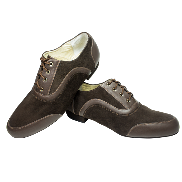 Vibranto male shoes Ref 318U in brown suede and leather