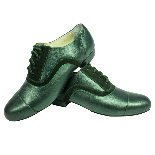Ref 318 in green suede and metallic green leather