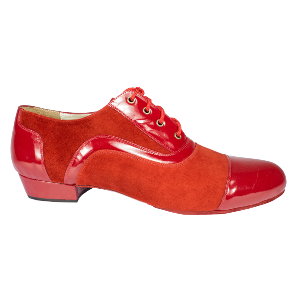 Ref 318 in red suede and leather