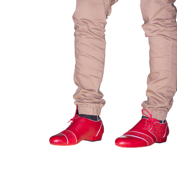 Ref 322 Vibranto Shoes in red leather