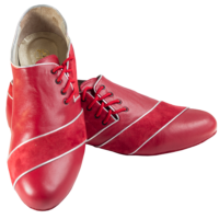Ref 322 men shoes in red leather.