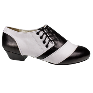 Ref 322 Vibranto Shoes in black and white leather