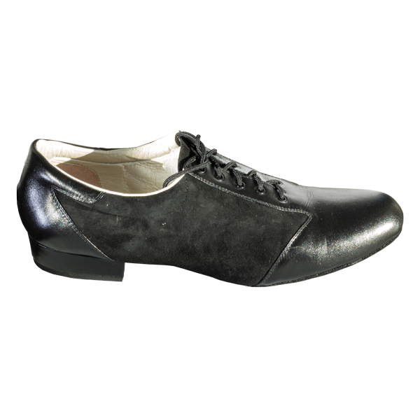 Ref 324 in black suede and leather