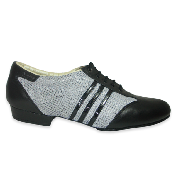 Ref 324 in white mesh and black leather