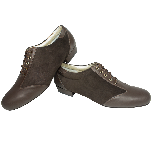 Ref 324 in brown suede and leather
