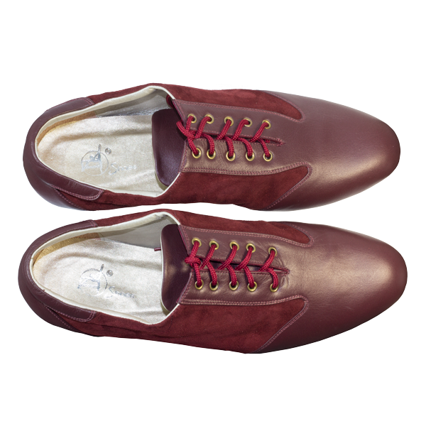 Ref 324 in maroon suede and leather