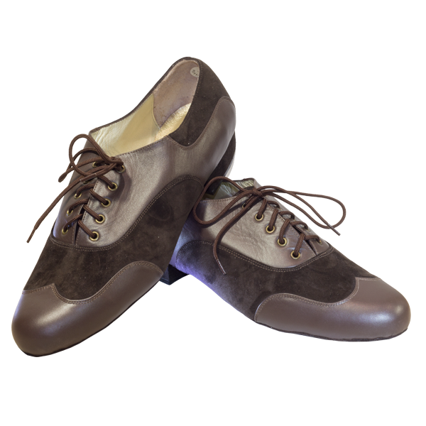 Ref 333 brown leather and suede
