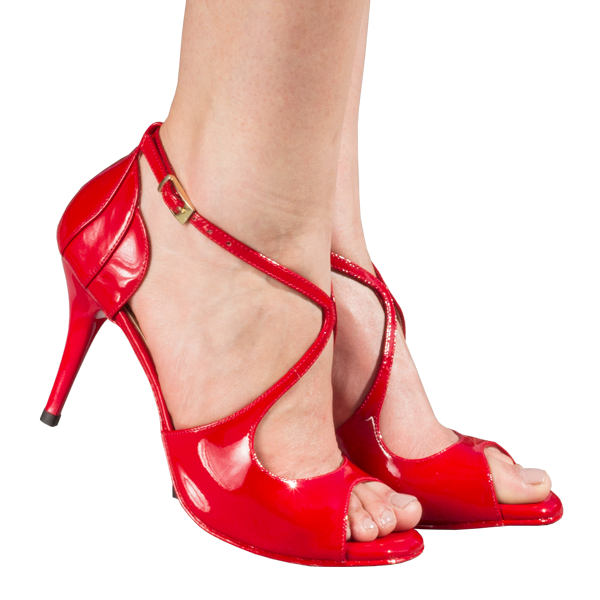 Ref 1203 in red patent leather