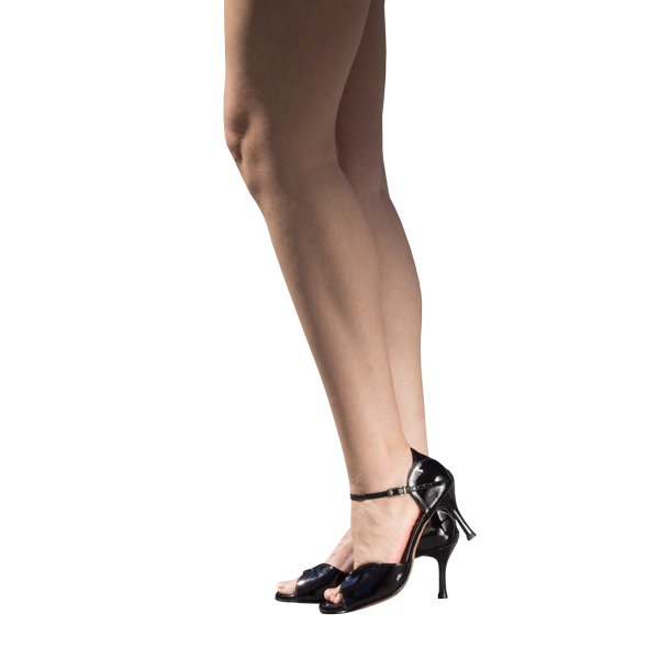Ref 248 High heel shoes in black leather for corporate, office and formal events