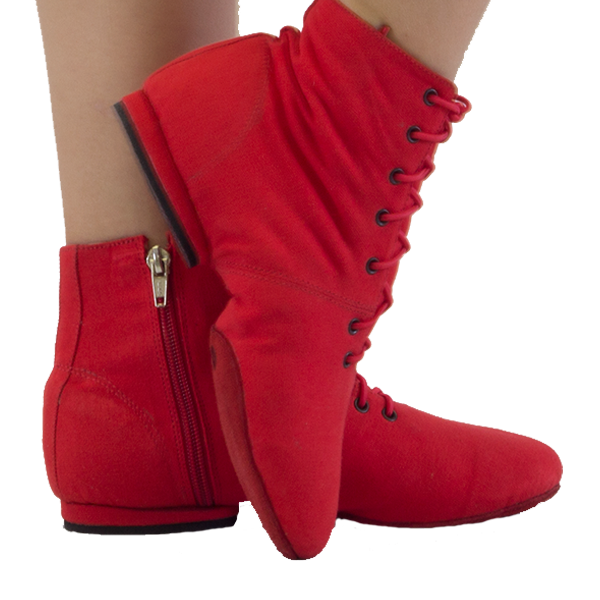 Ref 804 jazz boots for practice Vibranto in red