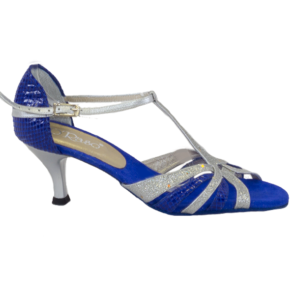 Ref T245C274 Vibranto Shoes in navy blue and silver