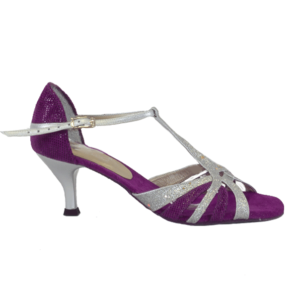 Ref T245C274 Vibranto Shoes in purple and silver