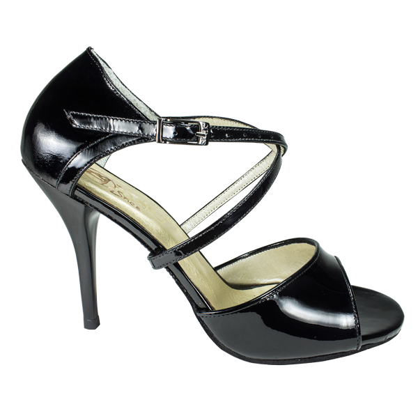 Ref T264 C251R in black patent leather - Vibranto Shoes high heel