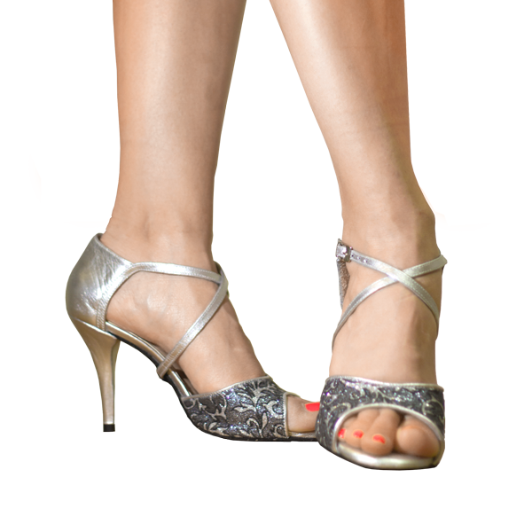 Silver shoes in Ref T264 C251R