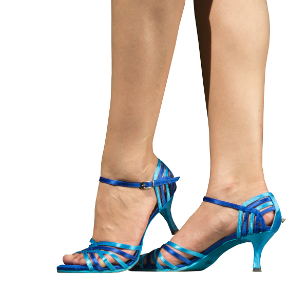 Ref 249 high heels shoes in blue tones. Vibranto Shoes