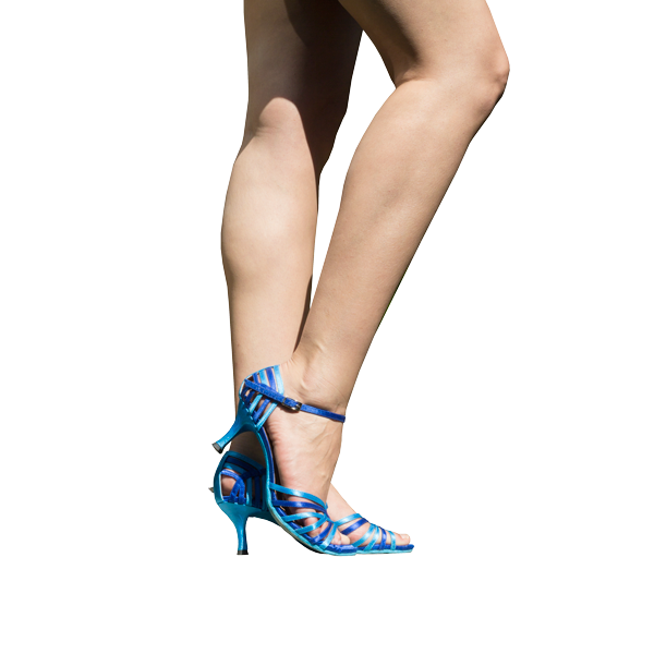 Ref 249 high heels shoes in blue tones.