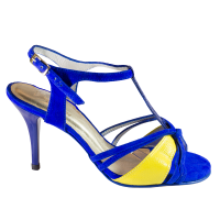 Ref 255 king suede blue and yellow