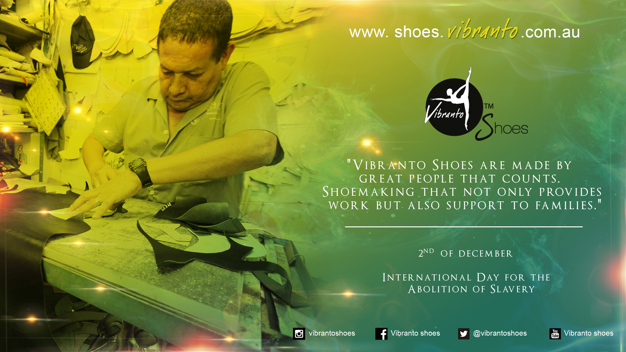 Vibranto Shoes are handmade under ethical manufacturing practices