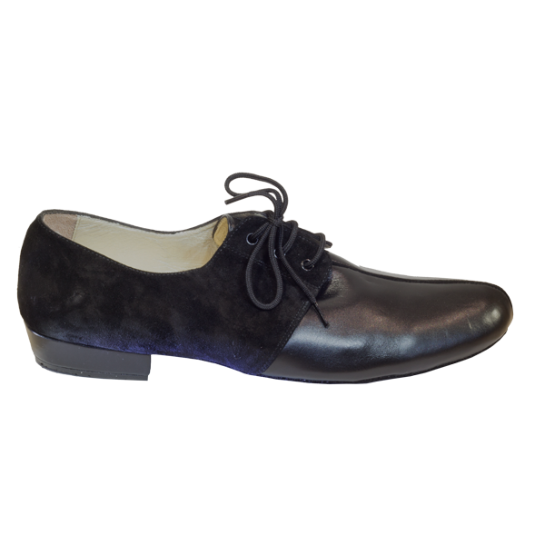Ref 325 Vibranto Shoes in black leather and suede