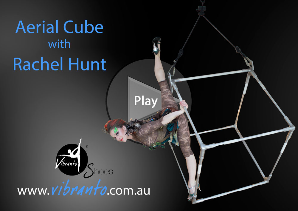 Rachel Hunt (Aerial Canvas) Aerial Cube with Vibranto Shoes