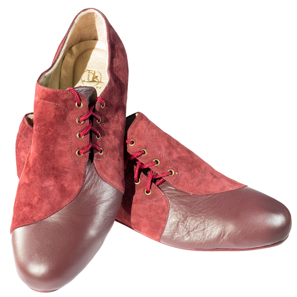 Ref 334 Men shoes in maroon.