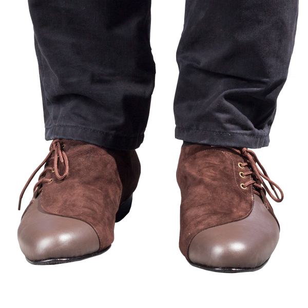 Ref 334 brown leather menshoes
