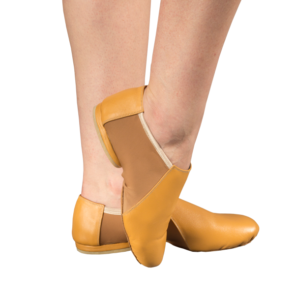Jazz Shoes Ref 801 in Beige with elastic band.