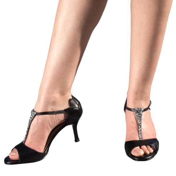 Ref1209 Black leather women shoes high heels for corporate or business