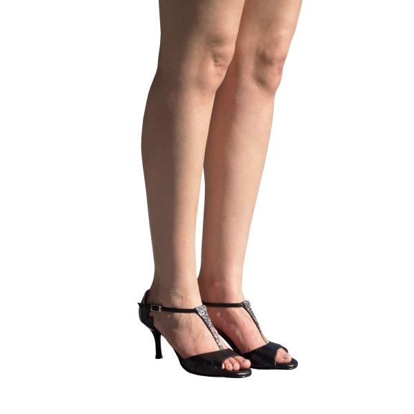 Ref1209 corporate women shoes in black leather