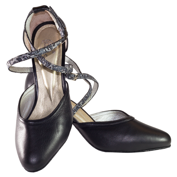 Ref 273 black leather vibranto women shoes