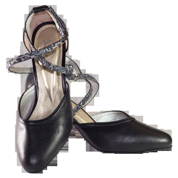 Ref 273 black leather vibranto women shoes