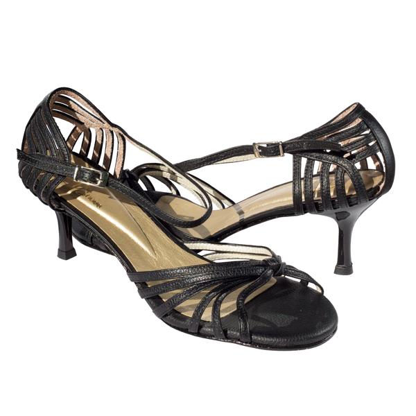 Ref 249 Black leather women shoes Vibranto