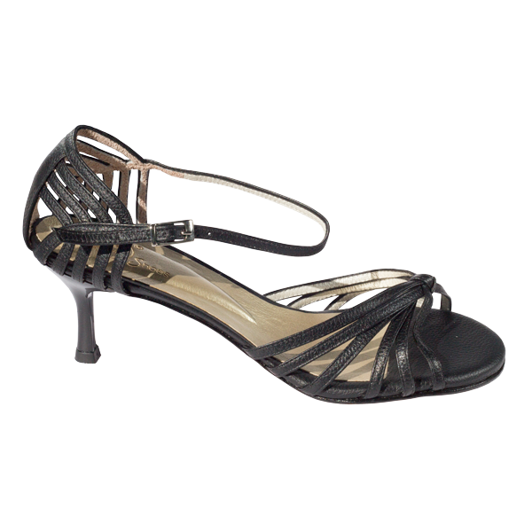 Ref 249 Black leather women shoes Vibranto