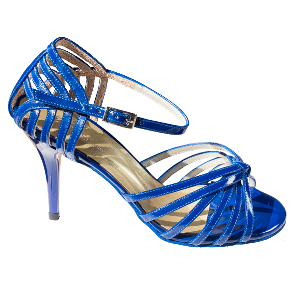 Ref 249 King Blue leather women shoes