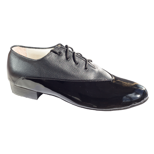 Ref 304 Men shoes in black patent and black leather