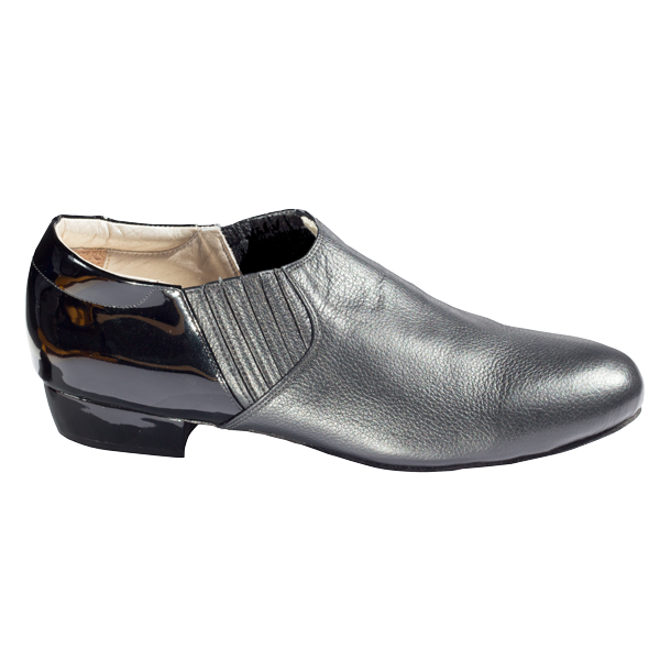 Ref 313 Men shoes in black patent and leather