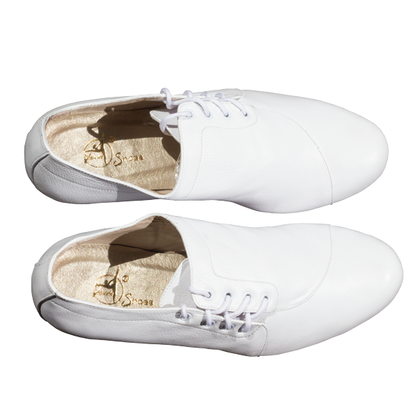 Ref 334 Men shoes all in white leather