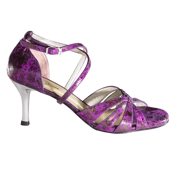 Women Shoes Ref215 purple dalmatian leather