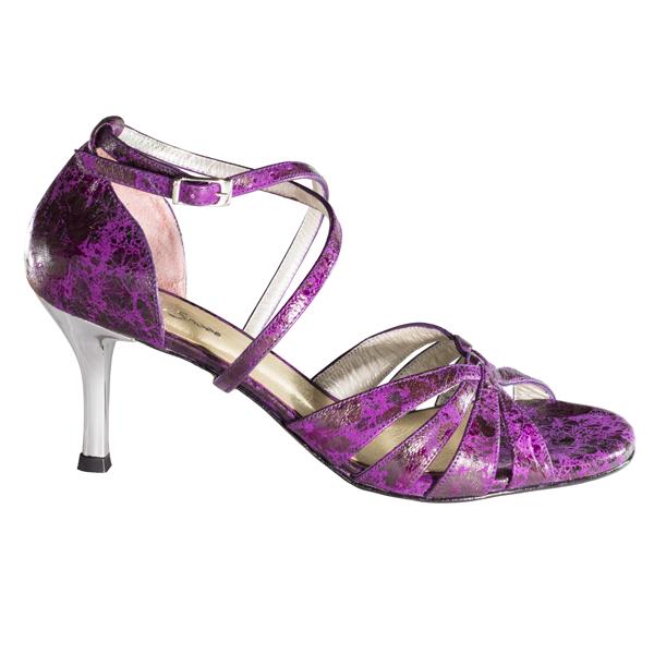 Women Shoes Ref215 purple dalmatian leather