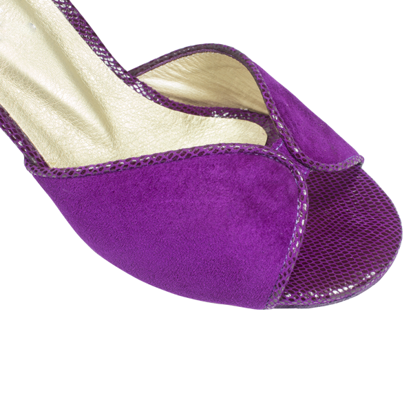 Ref 248 women shoes purple suede and purple grape uranus leather