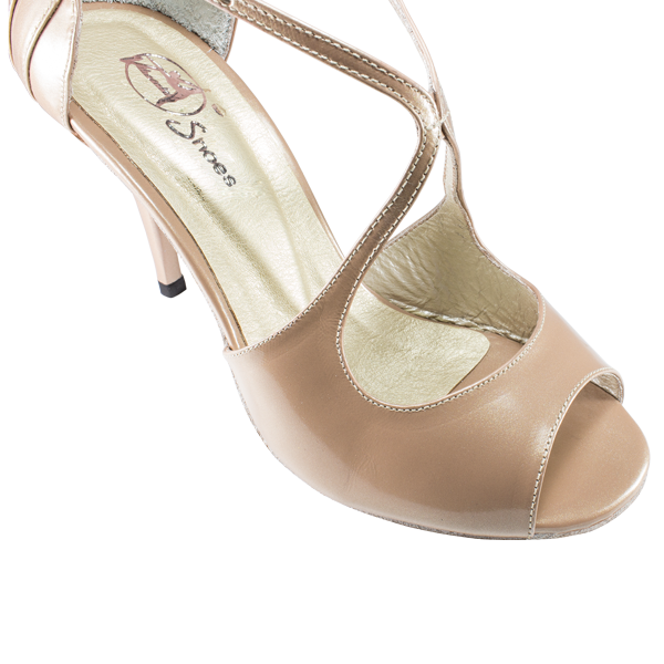 Nude rose patent leather - Vibranto Shoes