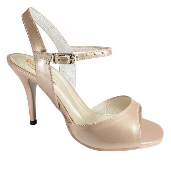 Red 251D in nude rose patent leather - Vibranto Shoes
